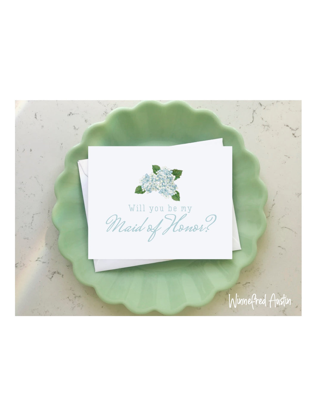 Wedding Notecard - Maid of Honor