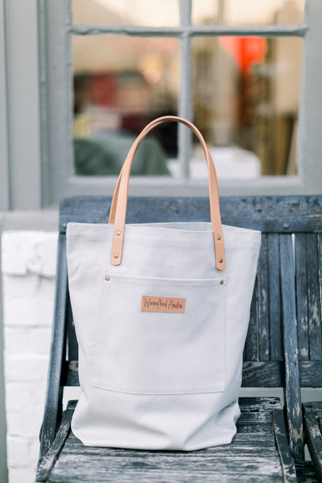 Austin Tote - Light Grey