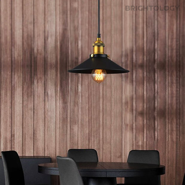 Rustic Wide Pendant Lamp