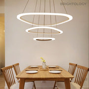 Layered Ring Chandelier