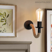 Jute Rope Open Sconce