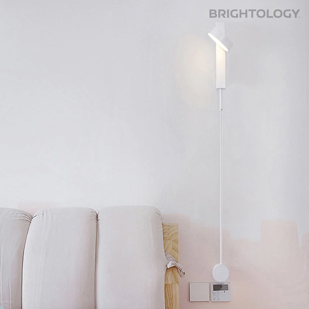 Minimal Tilting Head Wall Lamp