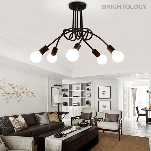 Industrial Knotted Rope Ceiling Light