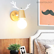 Wood Antler Wall Sconce