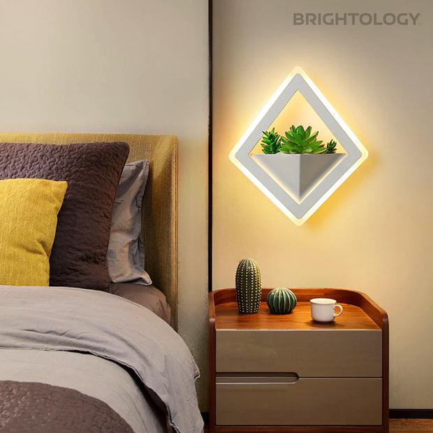 Diamond Planter Box Wall Light