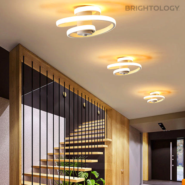 Avant-Garde Corkscrew Ceiling Light