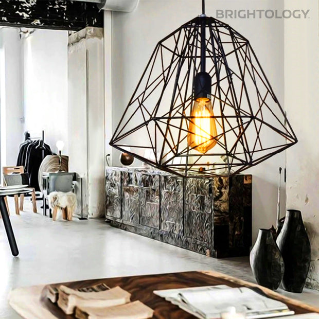 Rustic Wrought Iron Pendant Lamp