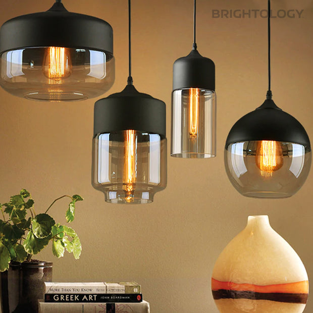 Semi-Shaded Glass Pendant Lamp