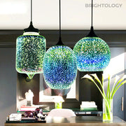 3D Starry Sky Glass Pendant Lamp