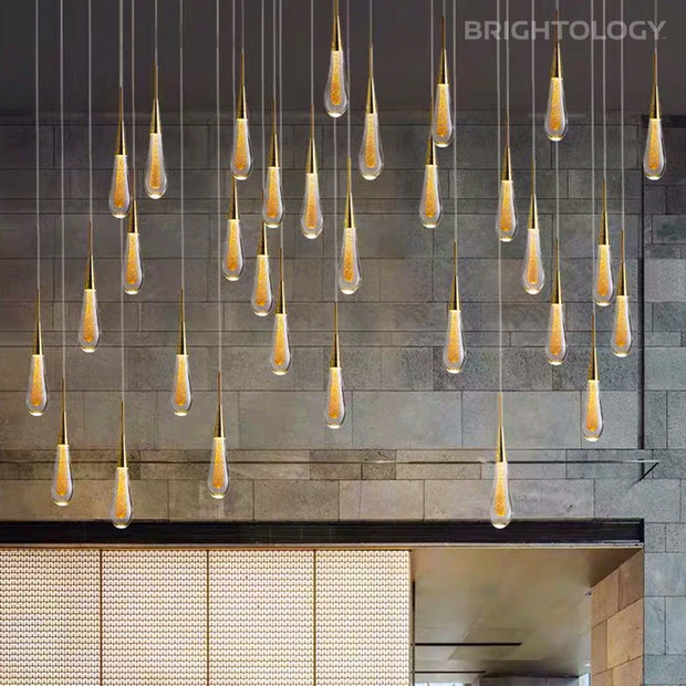 LED Water Drop Pendant Lights