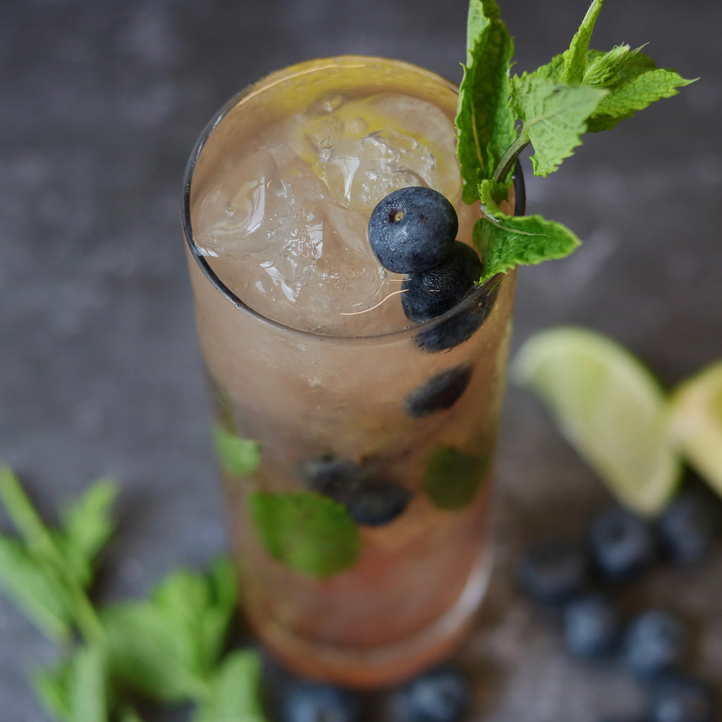 Clean Liquor Blueberry Mojito with CleanRum
