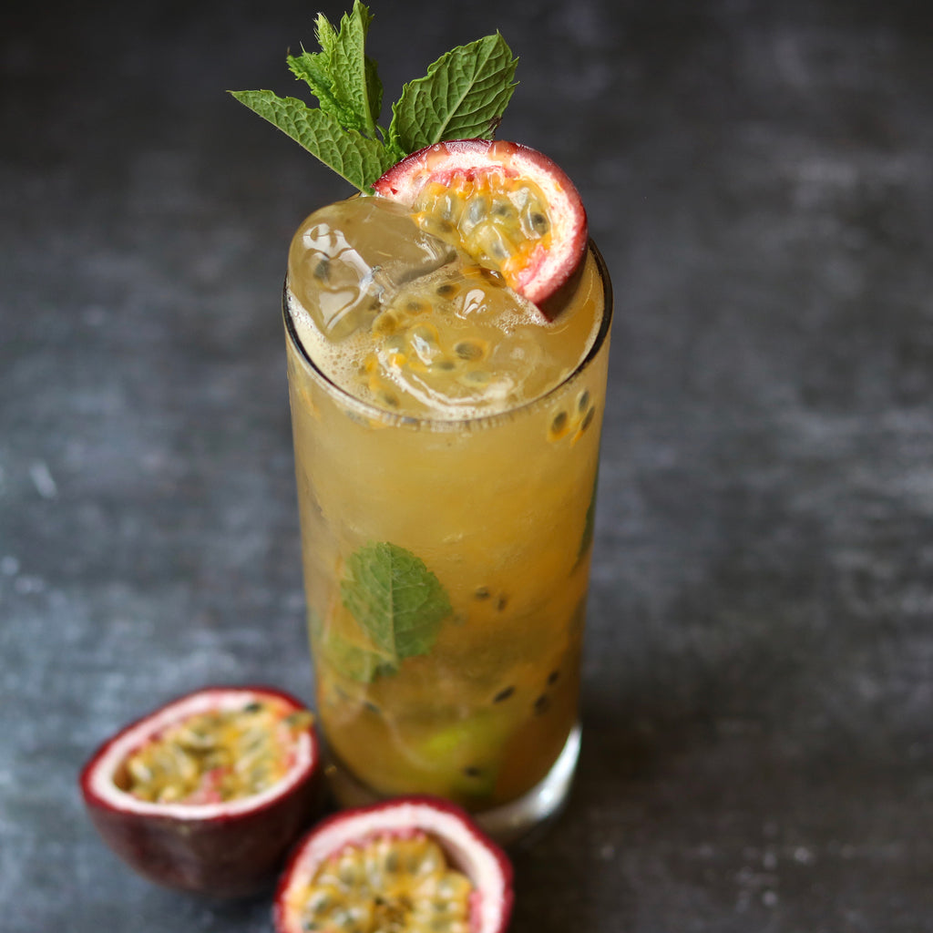 Clean Liquor Passionfruit Mojito with CleanRum