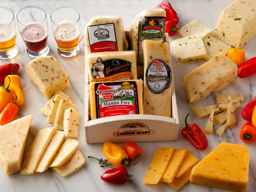 Hot and Spicy Cheese Gift Basket