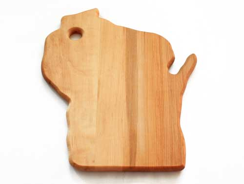 Wooden cutting board Wisconsin shape large