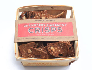 Potters Crackers Cranberry Hazelnut Crisps