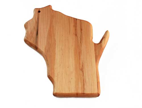 Wooden cutting board Wisconsin shape small