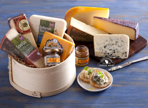 Wisconsin Sampler Cheese Gift Basket