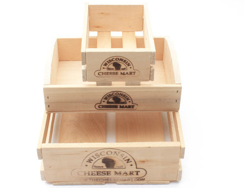 Custom Basket Wooden Crate Square