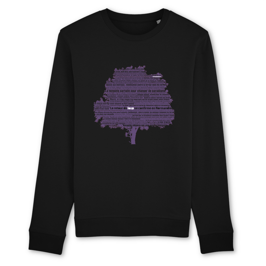 Sweat-Shirt Unisexe 100% Bio | STANLEY/STELLA | PURPLE NATURE PANDEMIX®