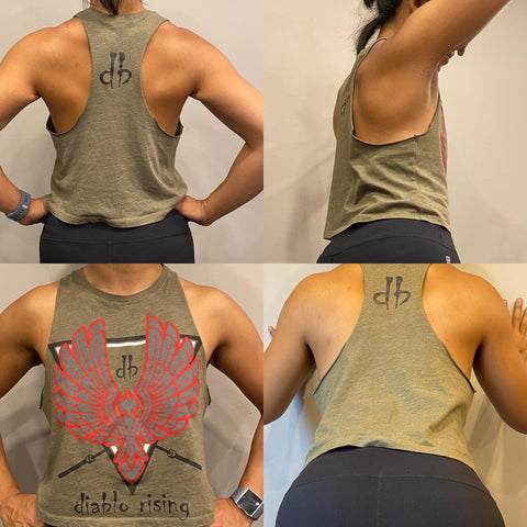 "Women's ""Diablo Rising"" Crop Tank"