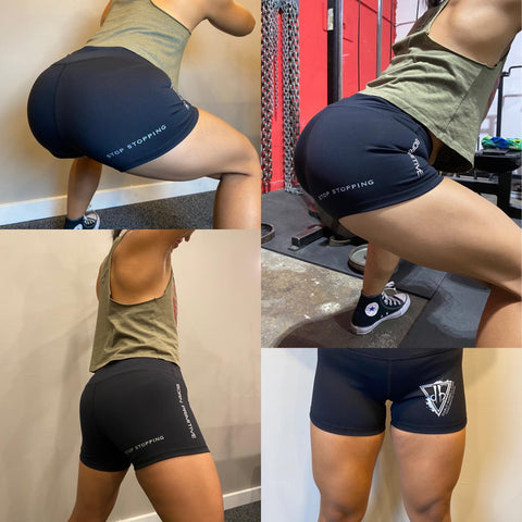"Women's ""Stop Stopping"" Booty Shorts"