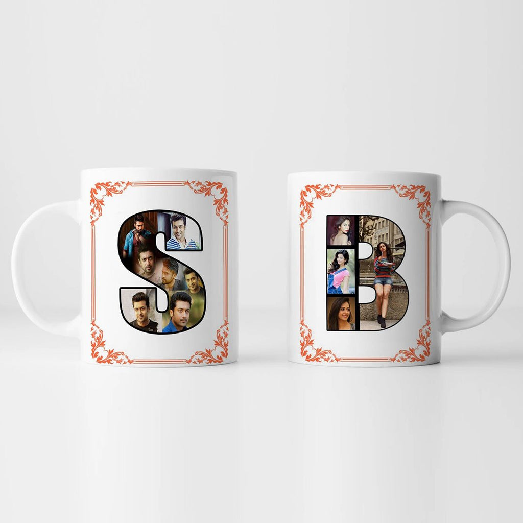 Personalized Couple Mug With Letters