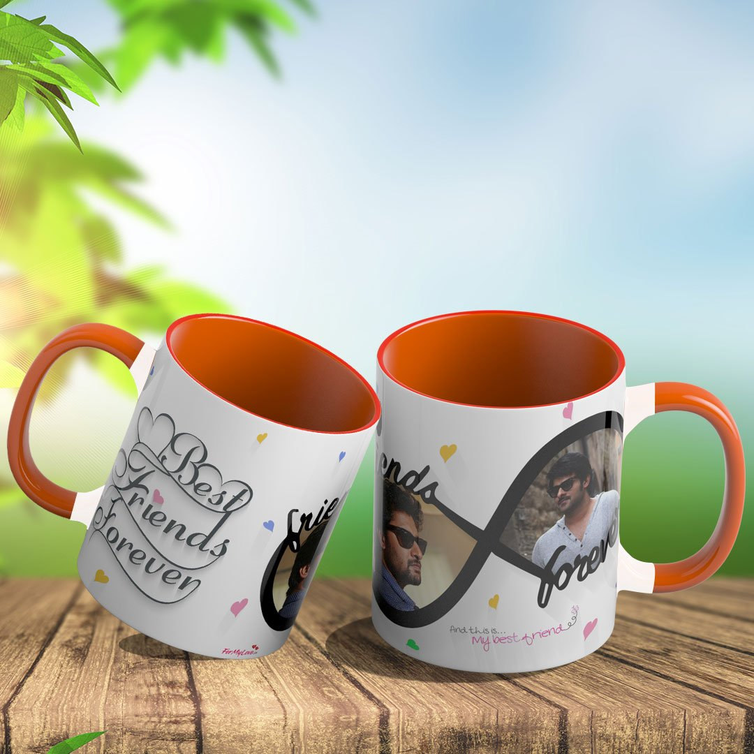 Personalized Coffee Mug With Dual Color Handle (Orange)