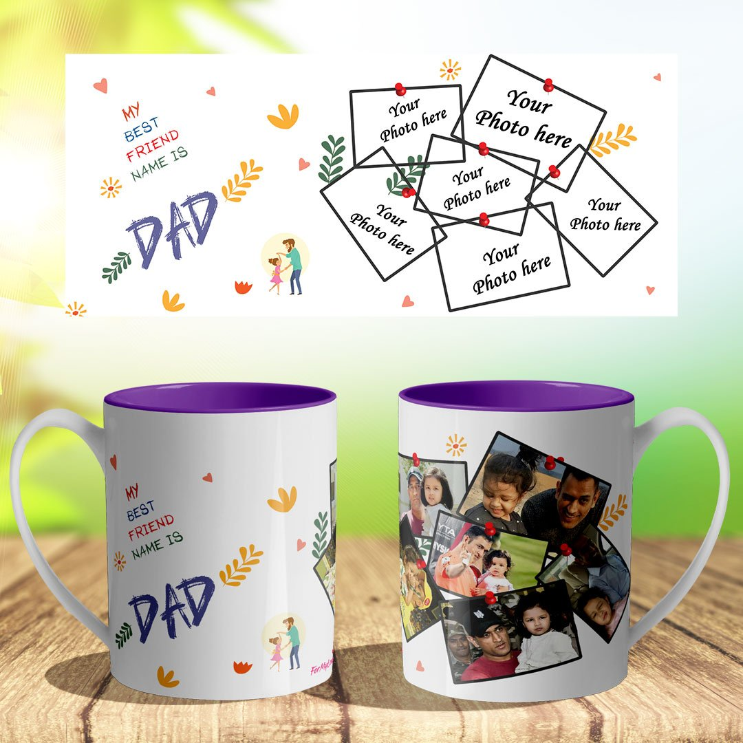 Personalized Polymer Mug (Light Weight) violet color