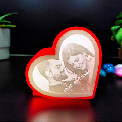 Personalized Heart Shape 3D Print Lamp