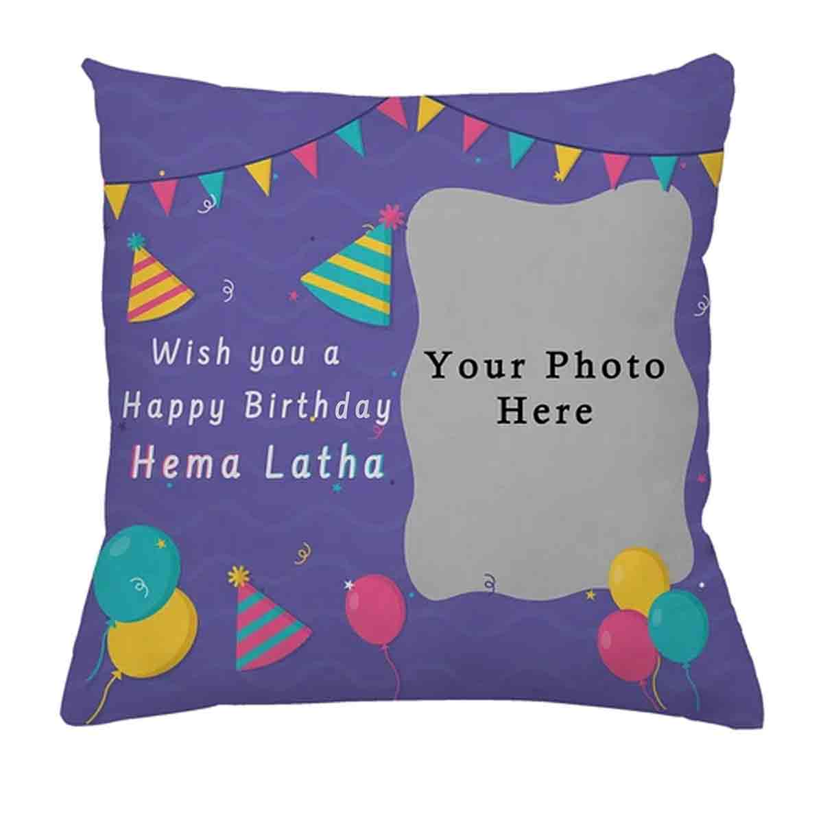 Personalized Square Shape Cushion (Pink)