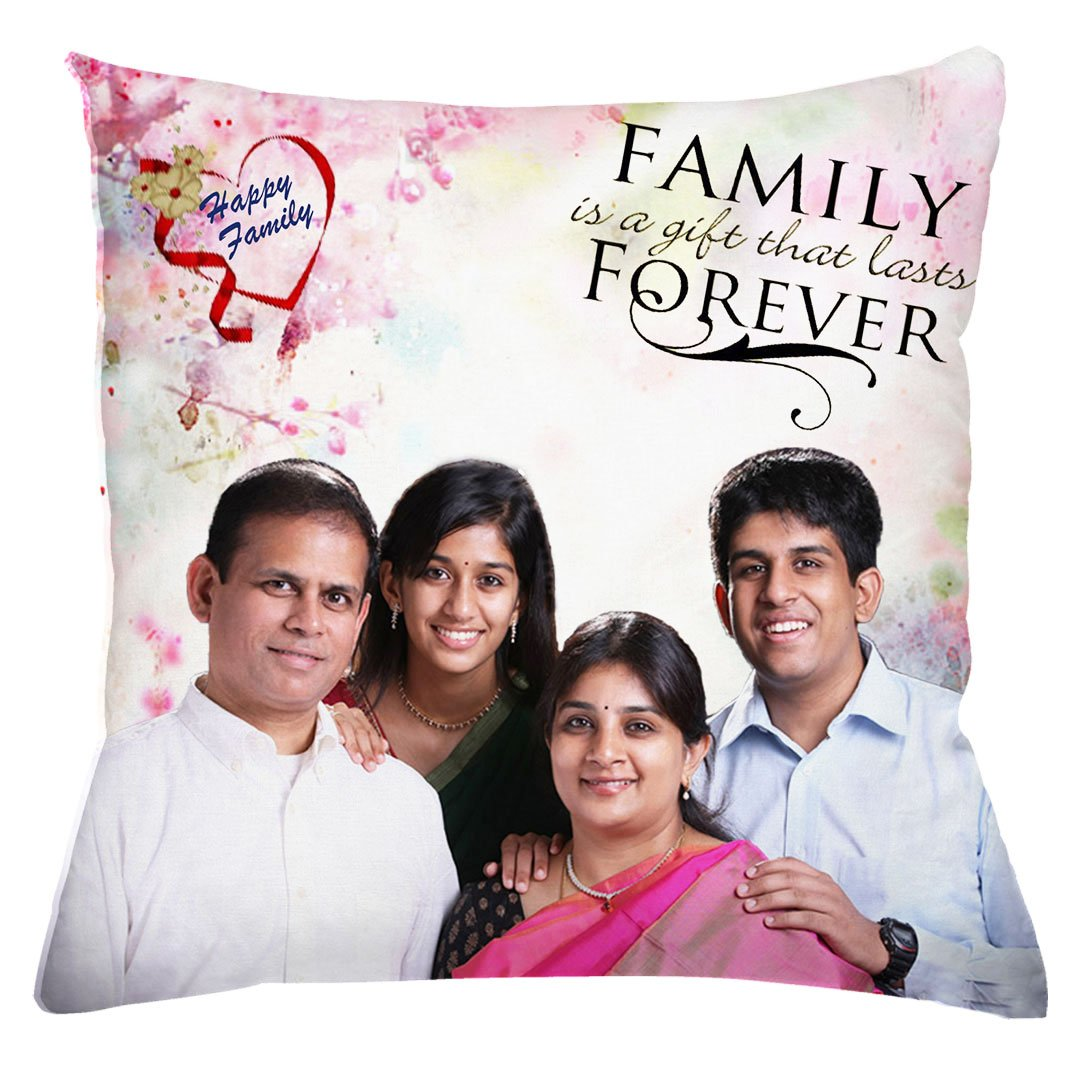 Personalized Happy Family Photo Cushion
