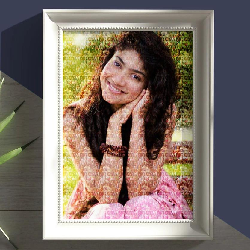 Personalized Photo Mosaic Poster Frame