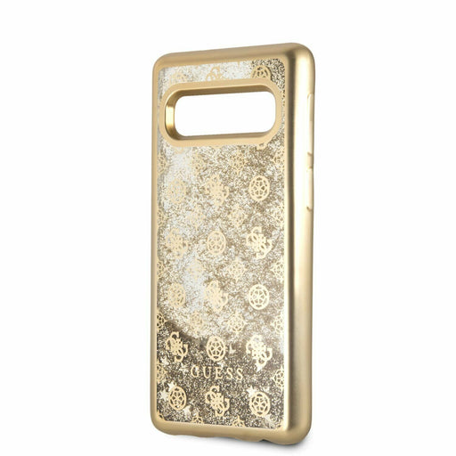 Guess Handyhülle Samsung Galaxy S10  Hülle Guess Glitter 4G Peony Hard Case Gold