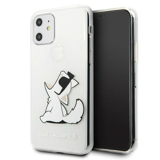Karl Lagerfeld Handyhülle iPhone 11 Hülle Karl Lagerfeld  Choupette Fun Hardcase transparent