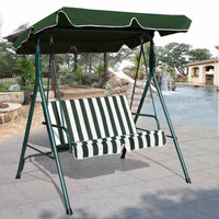 Patio Canopy Swing Glider Hammock Cushioned Steel Frame Bench