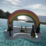 Summer Party Bucket Rainbow Cloud Cup Holder Inflatable Pool Float