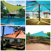 Triangle Sun Shelter Sunshade Protection Outdoor Canopy