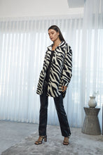 Load image into Gallery viewer, London Zebra Printed Coat