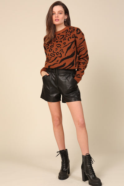 River Vegan Leather Shorts
