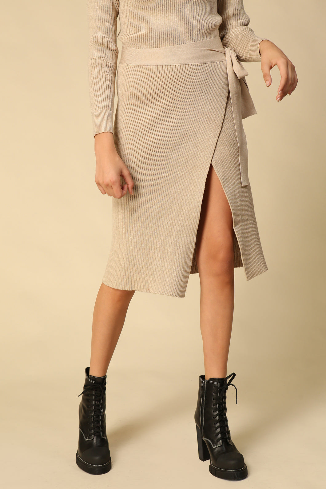Alyssa Sweater Set Wrap Skirt