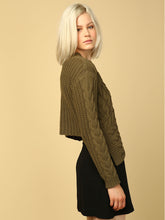 Load image into Gallery viewer, Vanessa Asym Cable Knit Sweater