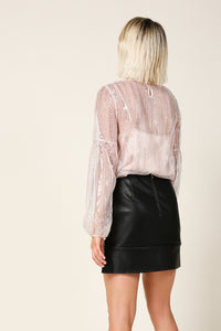 Christi Balloon Sleeve Top