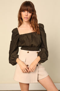 Carmen Cinched Waist Top