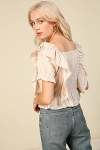 Pascal Ruffle Front Top