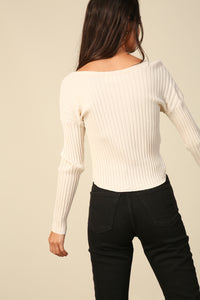 Olsen Cropped Sweater Top