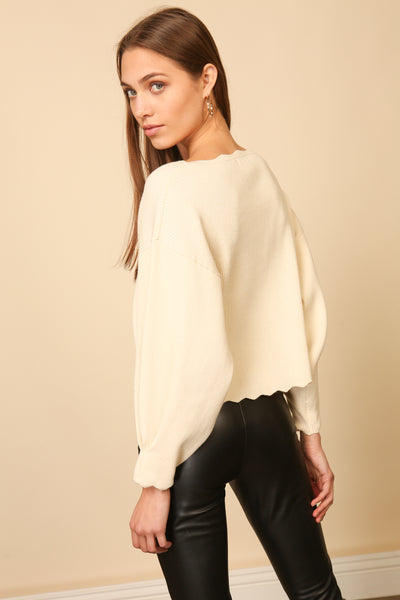 HARPER SCALLOP SWEATER