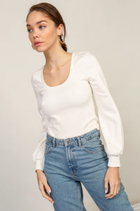 Delilah Scoop Neck Top