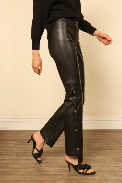 KOURTNEY VEGAN LEATHER LEGGINGS