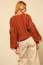 Load image into Gallery viewer, JASPER FRINGE SWEATER