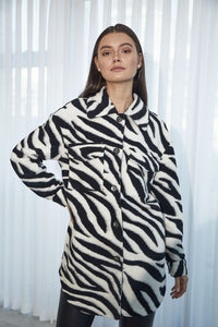 London Zebra Printed Coat